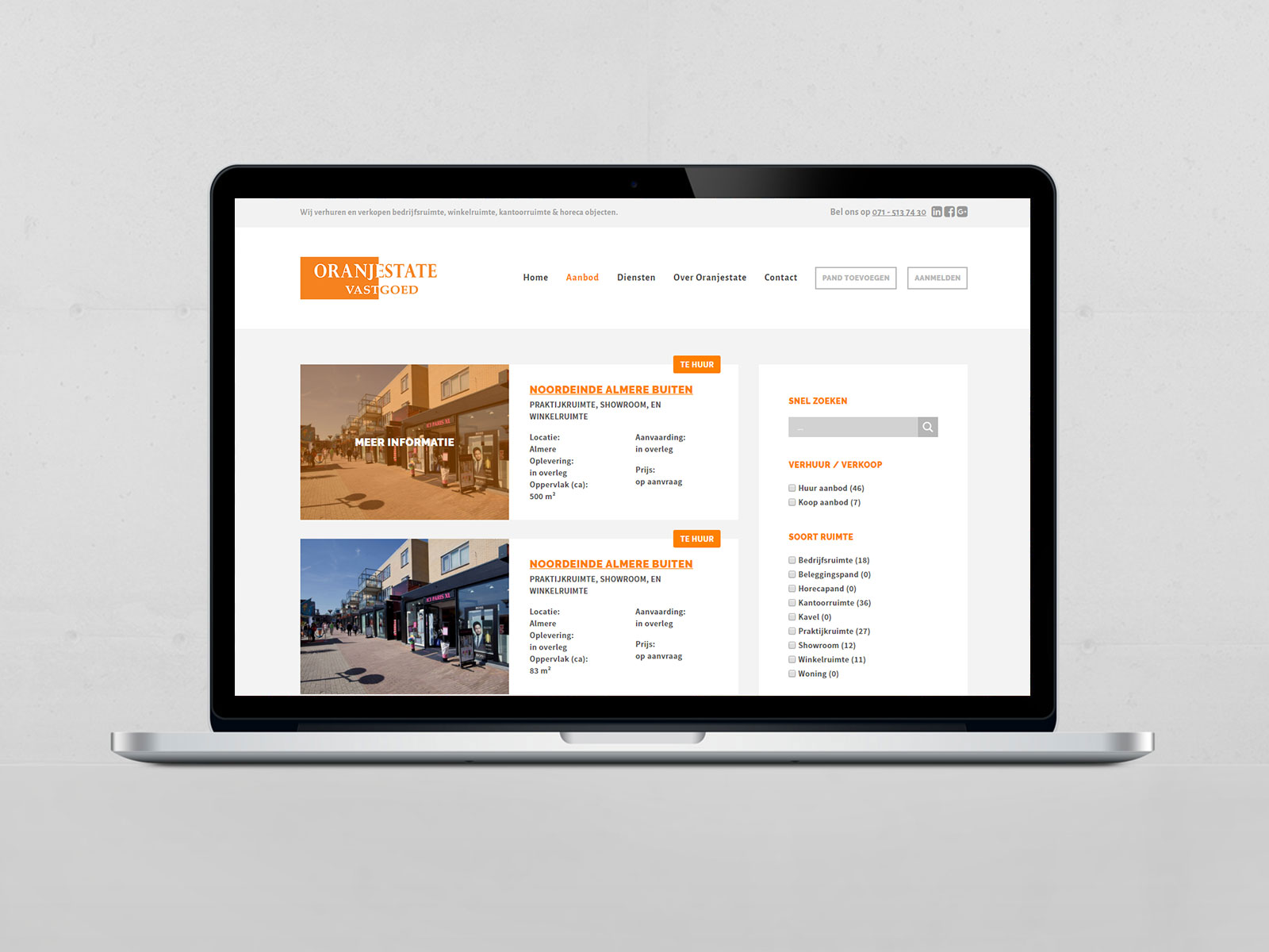 oranjestate-vastgoed-responsive-website-real-estate-laptop