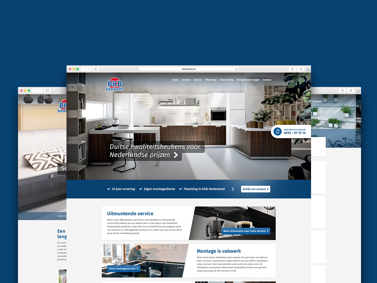 keuken website design