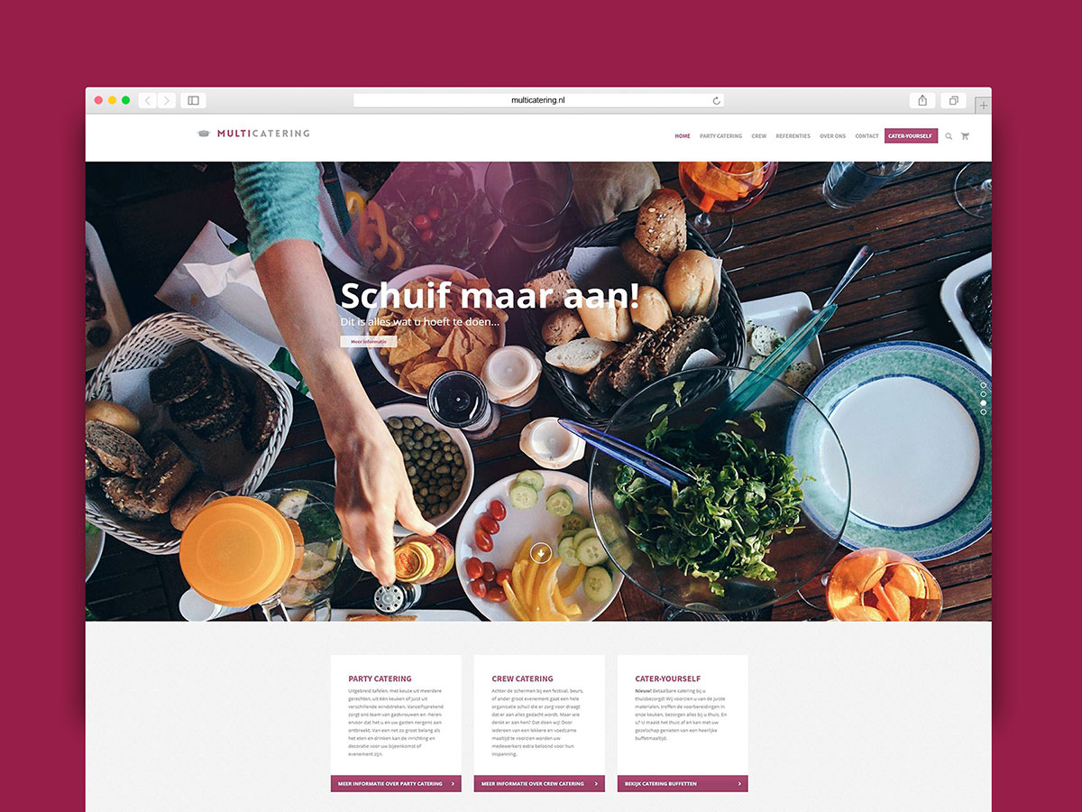 catering website food marketing